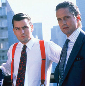 "Michael Douglas' Kabbaz-Kelly shirts in ""Wall Street"""