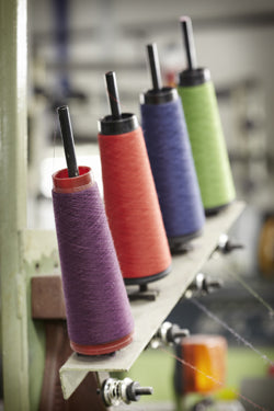 Winding Begg's extraordinary cashmere yarns