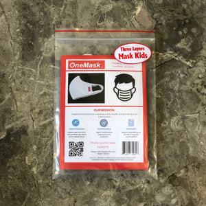 OneMask Reusable Antimicrobial Face Mask KIDS SIZE