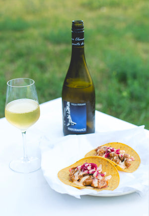 Artisan made wines paired with fresh, seasonal tacos