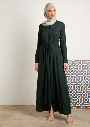 Boxed Pleat Maxi Deep Green
