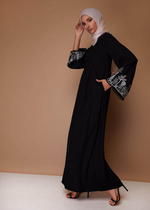 Gardenia Abaya in Black by Aab