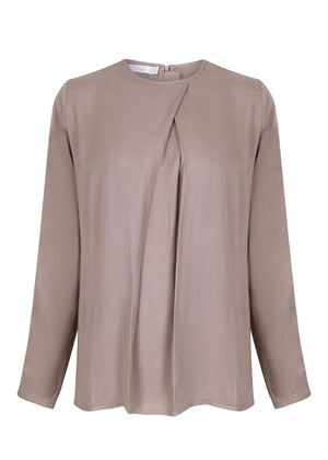 Pleat Top Taupe