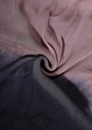 Two Tone Black Taupe Chiffon Silk Hijab