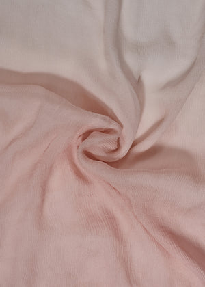 Two Tone Muted Rose Chiffon Silk Hijab
