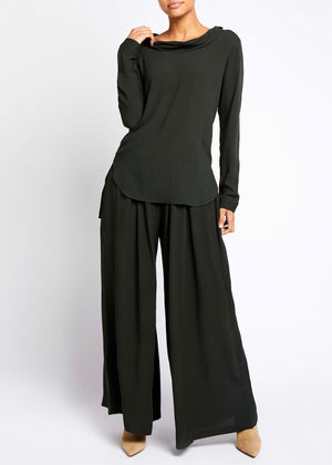 Wide Leg Trouser Green
