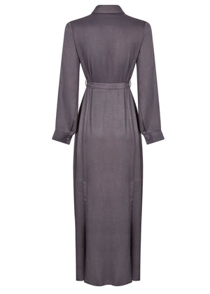 Belted Maxi Dress Iron Taupe