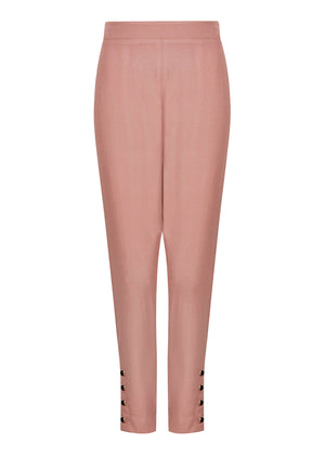 Black Buttons Trousers Fawn Aab