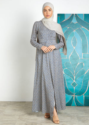 Blue Mosaic Maxi Dress