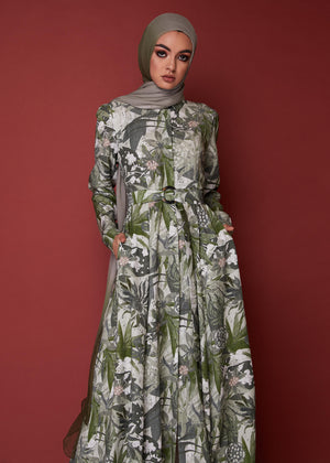 Botanical Palms Maxi Dress by Aab