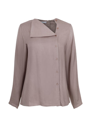 Button Top Taupe