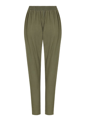 Buttoned Trousers in Khaki by Aab
