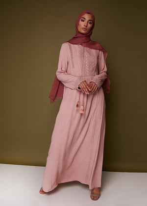 Chantilly Abaya Pink