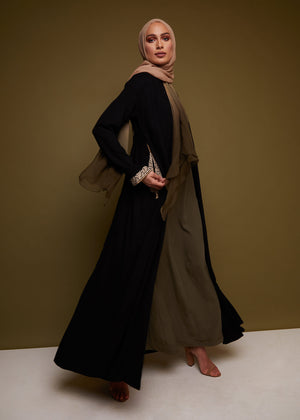 Cypress Tree Kimono in Black by Aab