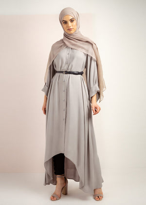 Draped Front Midi Grey Aab