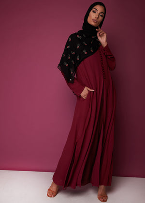 Front Slit Maxi in Berry by Aab