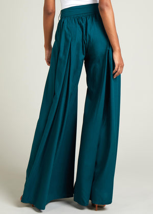 Full Flare Trousers Teal