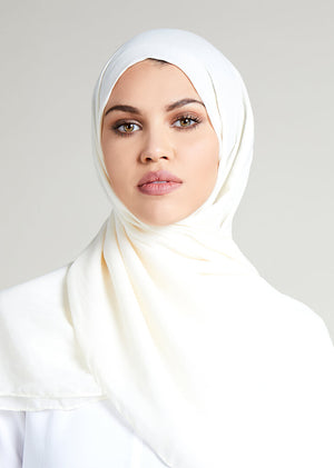 Ivory Cotton Rich Hijab