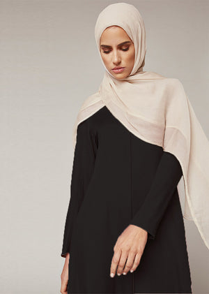Long Line Abaya Black