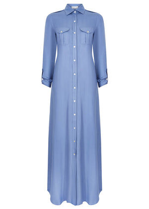Long Shirt Dusty Blue