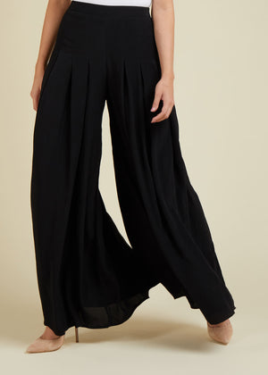 Pleated Trouser Black