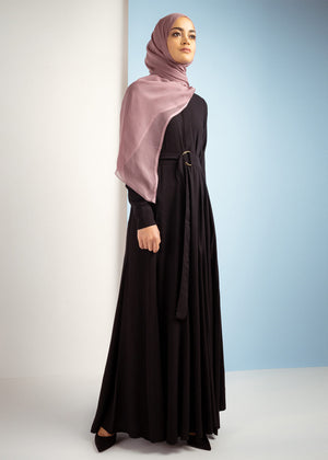 Black Flared Abaya by Aab
