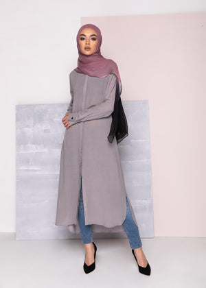 Shirt Dress Ash Grey Aab