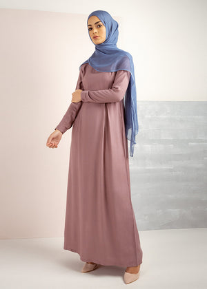 Skirted Abaya Berry