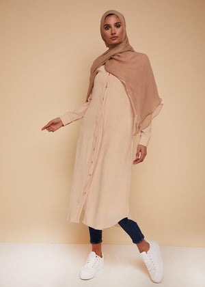 Slim Tie Midi in Cream by Aab