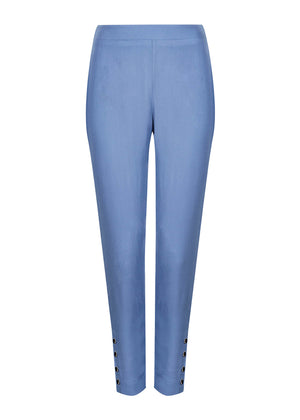 Silver Rim Button Trouser Blue