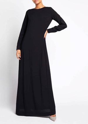 Soft Brushed Abaya Black