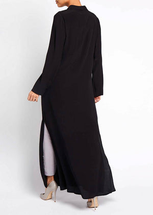 Soft Cross Wrap Abaya