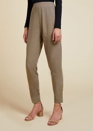 Gold Button Trouser Agave