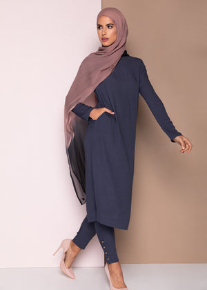 Tunic Top Dusty Blue Aab