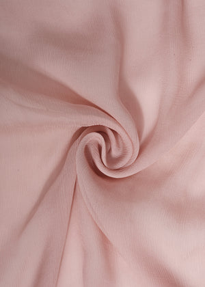 Two Tone Crystal Rose Chiffon Silk Hijab