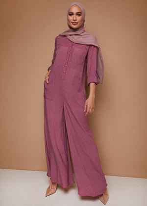 Utility Jumpsuit in Mauve by Aab