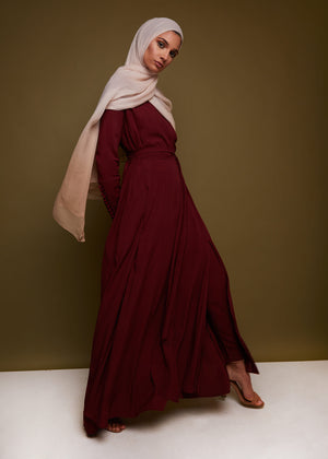 Wrap Abaya Deep Rouge by Aab
