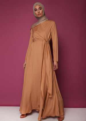 Wrap Abaya Ginger by Aab