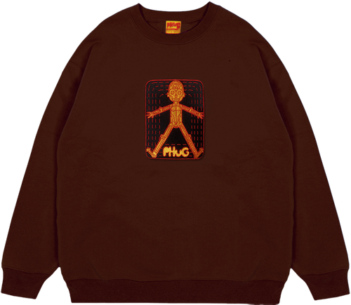 PHUG 'HOMOSAPIEN' SWEATER - CHOCOLATE BROWN