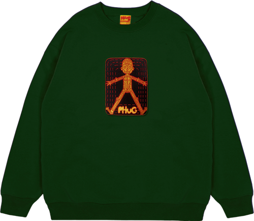 'HOMOSAPIEN' SWEATSHIRT - Forest Green