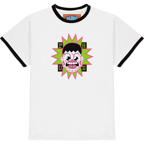 'BLOTTER BOY' RINGER T-SHIRT - WHITE