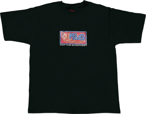 'MUNCHIES' T-SHIRT - Black