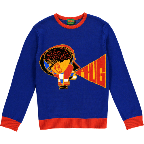 PHUG COLOUR MACHINE KNITWEAR - ROYAL BLUE