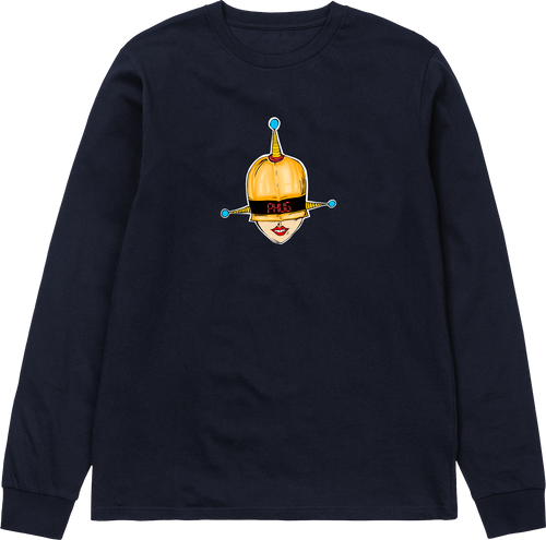 'THE MARY' LONG SLEEVE T-SHIRT - NAVY