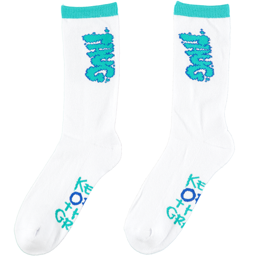 PHUG 'KEEP OFF THE GRASS' SOCKS - WHITE