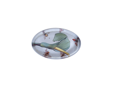 Calla Lily and Bees paperweight