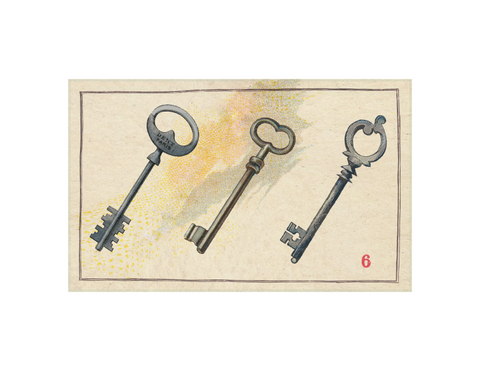 "Keys - 5x8"" rectangle"