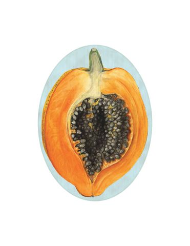 "Papaya - 5x7"" oval"