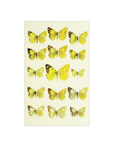 "Yellow Butterflies - 5 x 8"" rectangle plate"