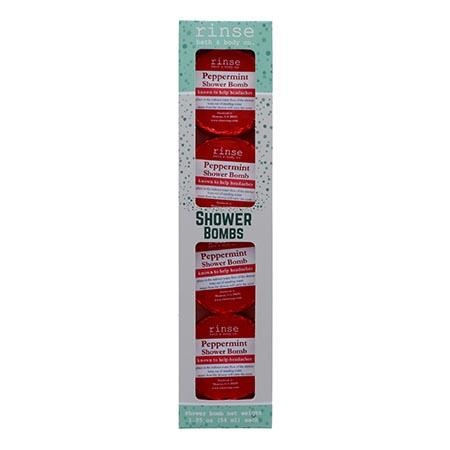 4 Pack Shower Bomb Box - Peppermint - wholesale rinsesoap